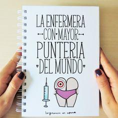 """Libreta """"La enfermera con mayor puntería del mundo"""" - A5"""