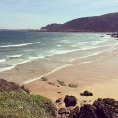 A sunny spring day at the Second beach of Xivares (cause yes, there are two of them, this is the Eastern one) in Asturias, Spain. Sand, waves, isolated = perfect!