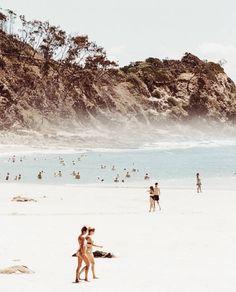 Misty mornings in Byron Bay captured by Byron Bay Beach, The Beach People, Island Life, Beach Photos, Australia Travel, Seaside, Travel Inspiration, Illustration, Travel Destinations
