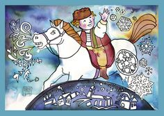 Martin na bielom koni