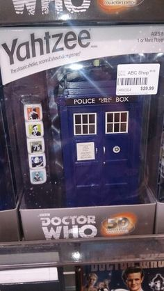 Omg - Dr Who yahtzee. Abc shops in Australia :-D. $30AU.