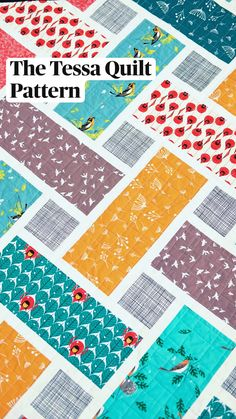 Quilt Square Patterns, Patchwork Quilt Patterns, Square Quilt, Patchwork Ideas, Simple Quilt Pattern, Crazy Patchwork, Quilting Patterns, Sewing Patterns, Easy Baby Quilt Patterns