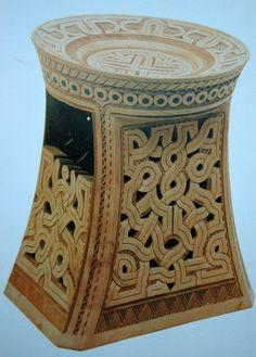 Tabouret en bois sculpté - Art Marron - Guyane / Suriname