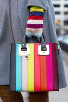 Sophie Hulme Stripe Albion Tote Bag via Style Charade