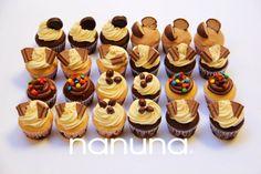 Cupcakes golosinas: Cabsha, Bon o bon, marroc, M&M, Vizzio. #Cupcakes #Tortas #Argentina #Nanuna Conocenos en http://nanuna.com.ar/