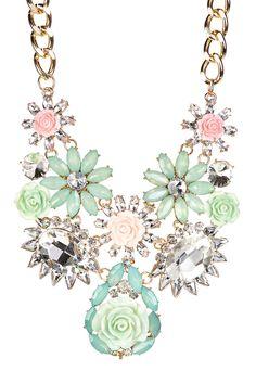 Green Flower my Neck Bib Necklace by Eye Candy Los Angeles on @HauteLook