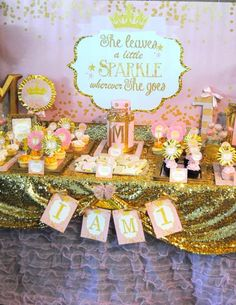 Krown Kreations & Celebrations 's Birthday / Pink and Gold Sparkle Party - Photo Gallery at Catch My Party