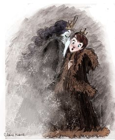 Anna and Elsa Concept Art by Claire Keane