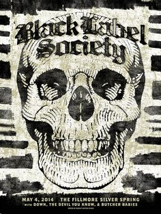 Black Label Society Official Screen Printed Concert Poster