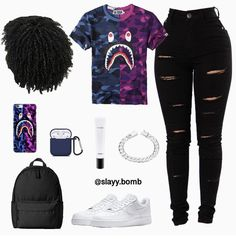 Comment below what you would rate this outfit, 🧡🧡 Cute Lazy Outfits, Swag Outfits For Girls, Teenage Girl Outfits, Cute Swag Outfits, Teenager Outfits, Teen Fashion Outfits, Preteen Fashion, Baddie Outfits Casual, Sporty Outfits