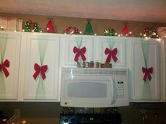 Christmas cabinets ..