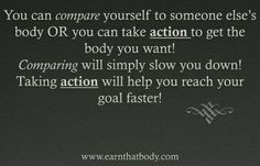 Comparing vs. Taking Action!
