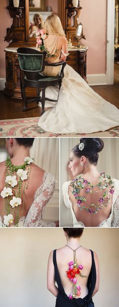 "Most brides and bridesmaids carry flowers, and we love the endless possibilities of creativity that are out there to florists. The new trend for wedding flowers is to ""wear"" them! There are many unique ways to create wearable flower.  Other than floral headpieces we are all familiar of, but also as jewelry, belts, accessories, and …"