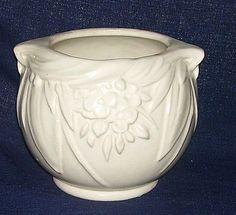 McCoy Leaves & Flower Vase White