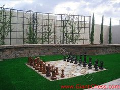 Who doesn't want a giant chessboard in their yard?