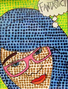 Pop Art Self Portraits- Roy Lichtenstein Inspired. Bristol Board and Acrylic. Projector of student images to enlarge. - Ms. Eaton's Blog