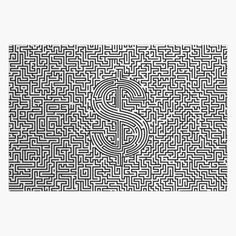 """Ultimate dollar maze"" Jigsaw Puzzle by GrandeDuc 