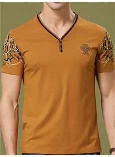 Middle-aged Business Cotton T-Shirt