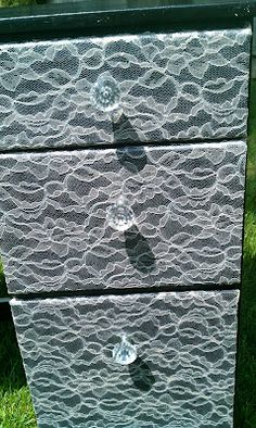 Mod Podge lace onto drawer fronts! this blog shows you that along with other quick and easy DIY projects