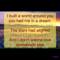 I Don't a Want to Love Somebody Else - A Great Big World - Is Anybody Out There?