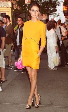 I don't wear dresses very often, but when I do I often go for short styles in bold colors.