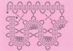 This Pin was discovered by Zuz Freeform Crochet, Crochet Motif, Crochet Doilies, Crochet Flowers, Crochet Lace, Crochet Patterns, Free Crochet, Bruges Lace, Crochet Stitches Chart