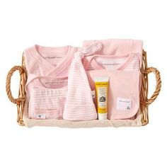 Burt's Bees Baby™ Organic Take Me Home Striped Gift Basket - Blossom