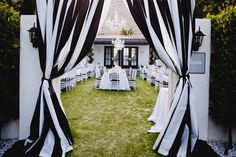 Black, white, and gorgeous all over.    Photography By / Christine Arnold Photography ~ Palm Springs  Floral Design, Event Decor + Coordination By / Artisan Events    http://www.stylemepretty.com/2012/08/29/viceroy-palm-springs-wedding-from-artisan-event-floral-decor/    |via Style Me Pretty