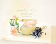 DIY Lavender and Rose DeodorantHere is what you will need. 3Tbs. Coconut Oil,  3Tbs. Baking Soda,  2Tbs. Shea Butter,  2Tbs. Arrowroot and Essential Oils (optional)