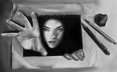 3d drawings on paper | 12 Inspirational and Awesome 3D Drawings on Paper