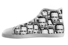 Classic hi-top shoes featuring the one and only Christopher Walken. What else is there to say, this shoe is art.   If you would ever like a custom order feel...