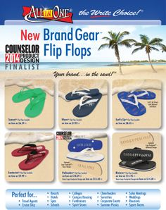 Great flip flops, many styles to choose. Not cheap plastic #flipflops by high quality from #proprinters.  Ask us how  www.proprintersonline.net 609 807 8856