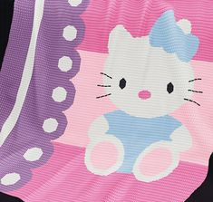CROCHET Pattern Baby Blanket Pattern Kitty Cat by PatternWorldUK