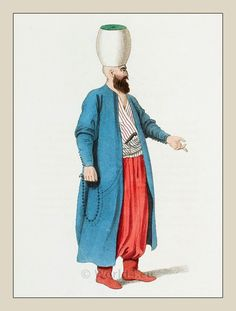 A Janissary officer. Ottoman empire military costume.