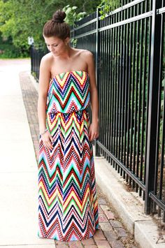 Keep Calm and Chevron Maxi