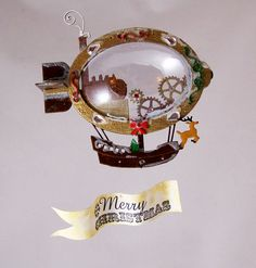 Christmas Airship Express... cutest DIY decoration!