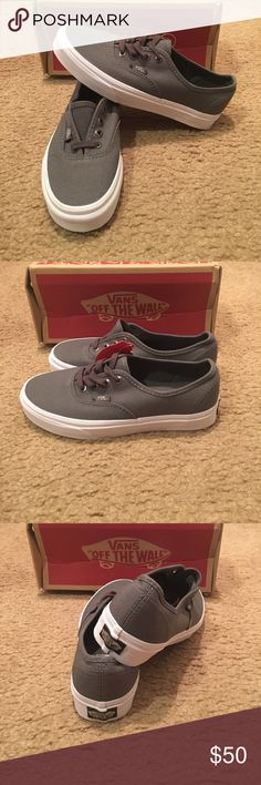 6e2be6c8076 Multi Eyelets Authentic Vans New in box. Perf gray Vans Shoes Sneakers  Black Vans