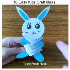 Handprint Art Discover Paper Craft ldeas for Kids Top 10 Origami Easy Paper Craft for Kids :) Paper Crafts Origami, Paper Crafts For Kids, Origami Art, Easy Crafts For Kids, Craft Activities For Kids, Diy Arts And Crafts, Toddler Crafts, Creative Crafts, Preschool Crafts