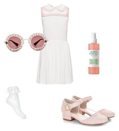 """V"" by miumiudeleeuw on Polyvore featuring Miu Miu, Monsoon, Miss Selfridge, Mario Badescu Skin Care and Gucci"