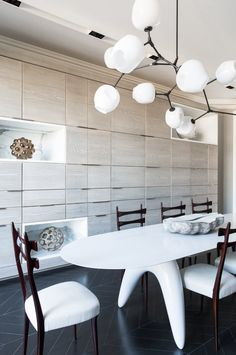 Dining room design by Damien Langlois-Meurinne