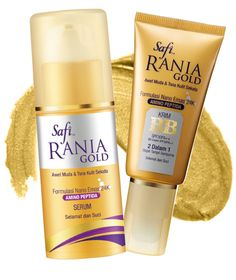 SAFI RANIA GOLD is enriched with anti-aging formulations 24K Gold Nano technology co Amino Peptide.