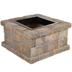 Pavestone RumbleStone in. x 21 in. Square Concrete Fire Pit Kit No. 5 in Cafe - - The Home Depot fire pits designs Pavestone RumbleStone in. x 21 in. Square Concrete Fire Pit Kit No. 5 in - The Home Depot