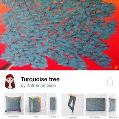 New art in my @society6 http://ift.tt/1pOW3zo #art #artprints #Society6 #turquoise #tree #iphonecase #ipadcase #travelmug #mug #pillow #leggings #rug #totebag #tshirt #tapestries #wallwatch #laptopsleeve by galo.katherine