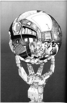 Katsuhiro Otomo (M. C. Escher rendition)