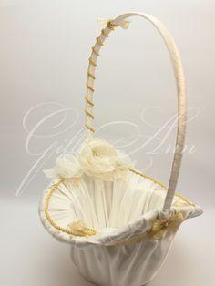 Корзинка для лепестков Gilliann Golden Time BAS014 #basketschampagne #basketspetals