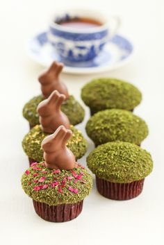 Matcha Moss Cupcakes   Thirsty For Tea