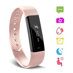 Fitness Tracker, Waterproof Activity Tracker with Heart Rate Monitor Bluetooth Multiple Sport Modes Smart Watch Wireless Smart Bracelet Sleep Monitor Pedometer Wristband for Kids Women Men Fitness Watches For Women, Calorie Counter, Smart Bracelet, Beautiful Watches, Fitness Tracker, Quartz Watch, Monitor, How To Find Out, Heart Rate