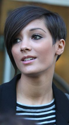 Frankie Sandford's Undercut Style Works Well With Her Rich Chocolate Hair Colour, 2010