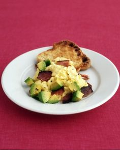 Scrambled Eggs with Bacon and Avocado