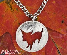 Chihuahua Quarter dog hand cut coin by NameCoins on Etsy, $24.99